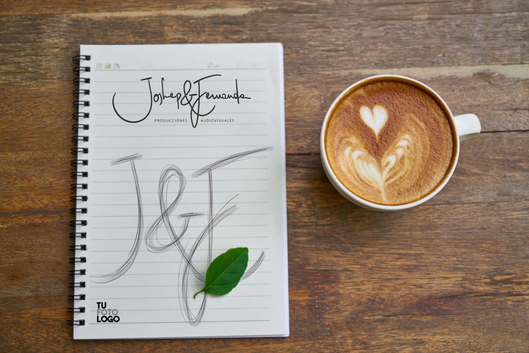 Hicimos un logo para Joshep y Fernanda