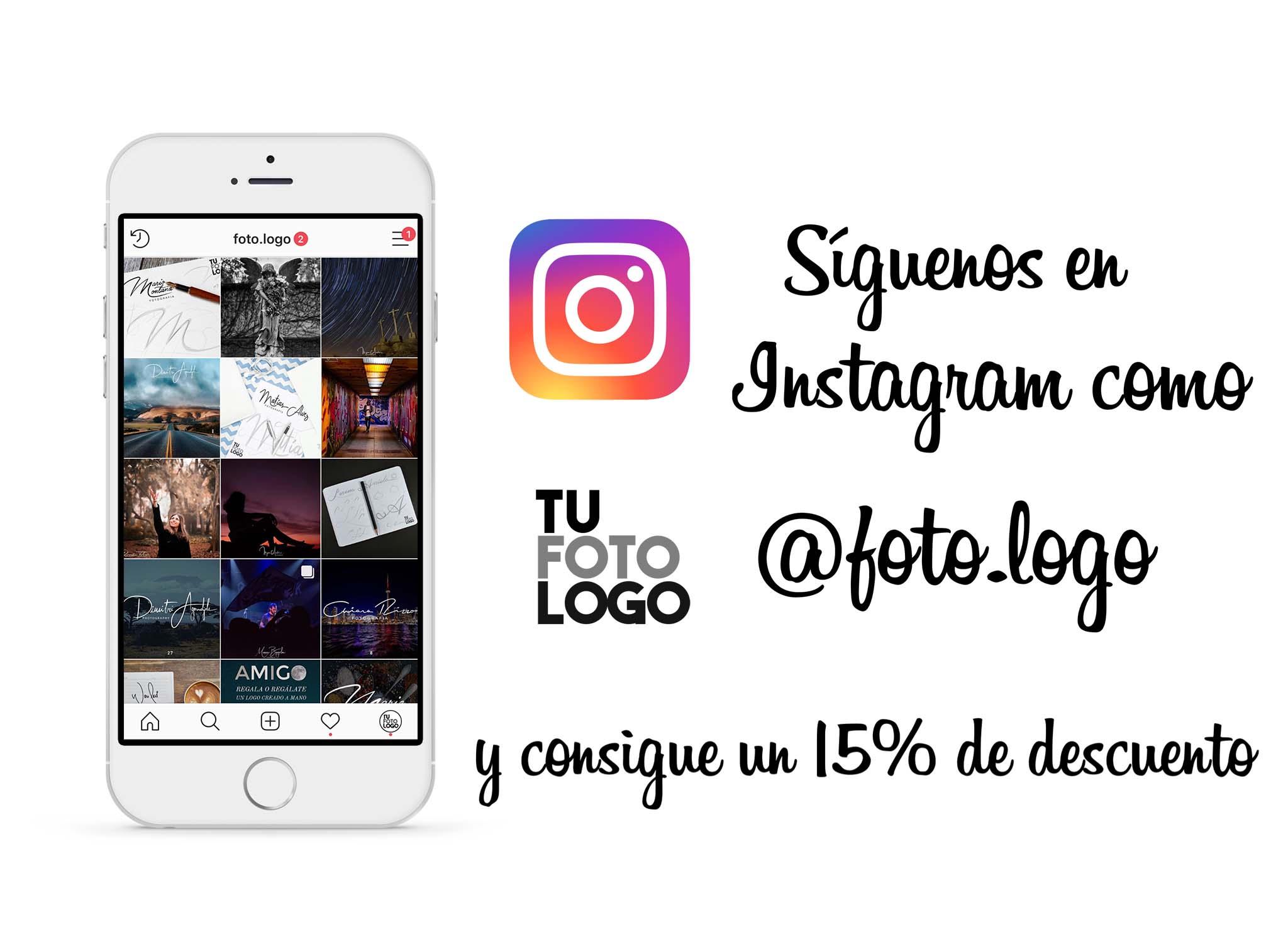 Síguenos en Instagram y consigue un 15%